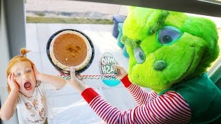 DROP TEST the GRINCH dropping PUMPKIN PIE from 45ft (what
