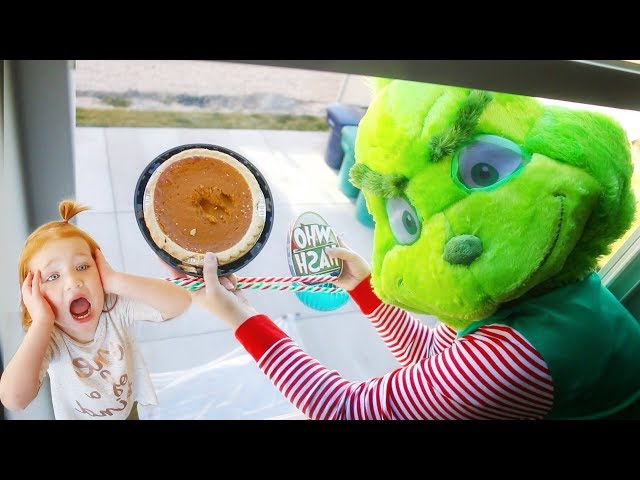 DROP TEST the GRINCH dropping PUMPKIN PIE from 45ft (what's inside)