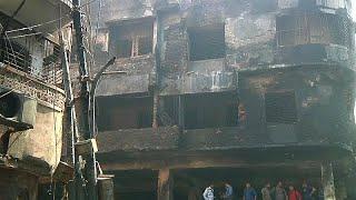 شاهد: المئات يصلون على أرواح ضحايا حريق بنغلادش