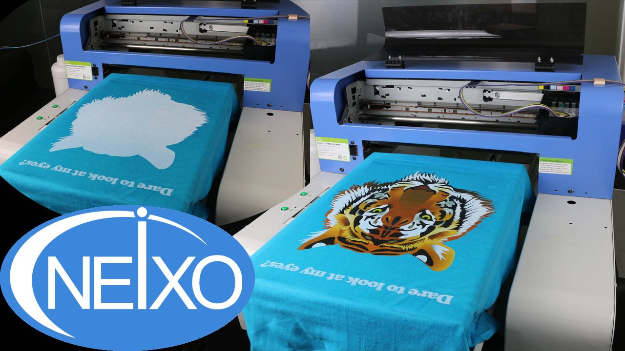 A3 Photo Printing A3 Size T Shirt Printer White Ink Customized Printing Demo Tutorial