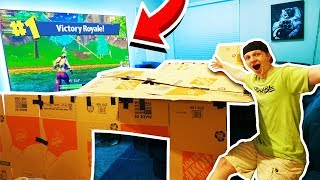 BOX FORT CHALLENGE WITH 120 INCH PROJECTOR INSIDE!