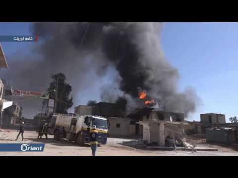 مشاهد من قصف ميليشيا أسد الطائفية على الأحياء السكنية في خان شيخون - سوريا