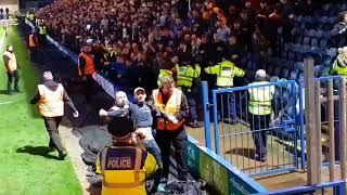 Oldham fans at Rochdale oafc