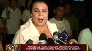24oras: Annabelle Rama, sinugod umano ang isang showbiz writer habang nasa burol ni Dolphy