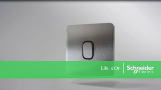 Lisse Screwless Deco Light Switches by Schneider Electric - Range Presentation