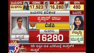 Jayanagar Election Results Live Updates: After 5 rounds, Cong 17923 and BJP at 16280