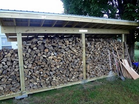 How to Build a Firewood Shed By Yourself - YouTube