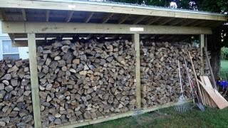 How To Build A Firewood Shed By Yourself
