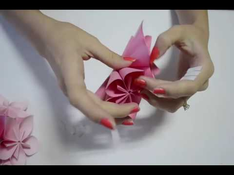 How to make an Origami Flower Ball Wedding & Party Decorations Kusudama DI HD