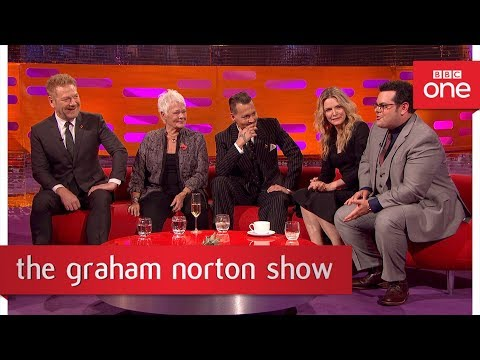 Josh Gad does a 'who farted' look  The Graham Norton : 2017  BBC One