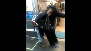 TWo black woment Ghetto fight in Chicago Subway #14 #ONLYinUSA