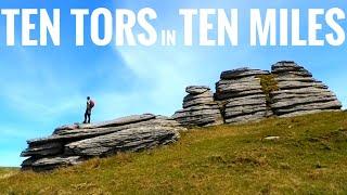 TEN TORS in TEN MILES (Hiking on Dartmoor - Great Links Tor)