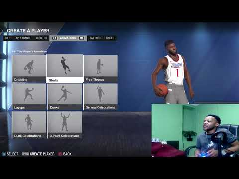 NBA LIVE 18 How To Put Your Created Player in Franchise Mode