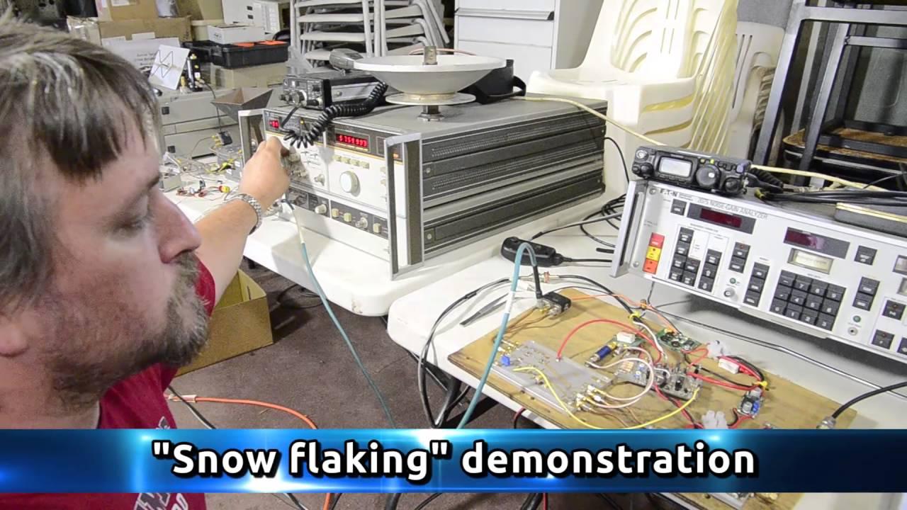 Snow flaking demonstration for microwave ham radio