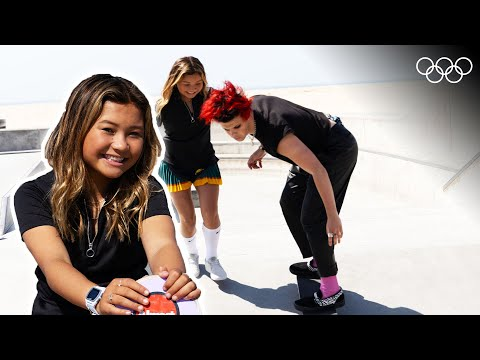 Sky Brown teaches Yungblud how to skate! | From The Top