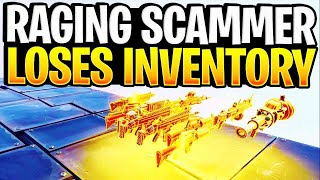 Rich Raging Scammer Loses His Inventory! (Scammer Gets Scammed) Fortnite Save The World