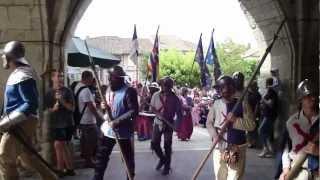 LES MEDIEVALES DE MONFLANQUIN (47) 2012 Deuxième passage de la parade