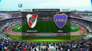 Fútbol en vivo. River - Boca. Fecha 10. Torneo Primera División 2014. FPT.