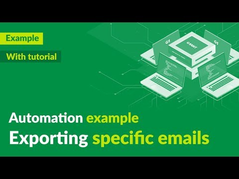 Exporting specific emails - automation demo + tutorial - G1ANT thumbnail
