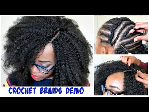 Crochet Hair How To : ... ME DO CROCHET BRAIDS! Invisible Part Method w/ Marley Hair - YouTube