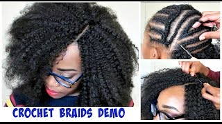 ... video WATCH ME DO CROCHET BRAIDS! Invisible Part Method w/ Marley Hair