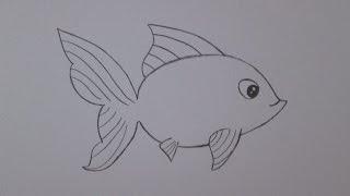 Cómo dibujar un pez de colores