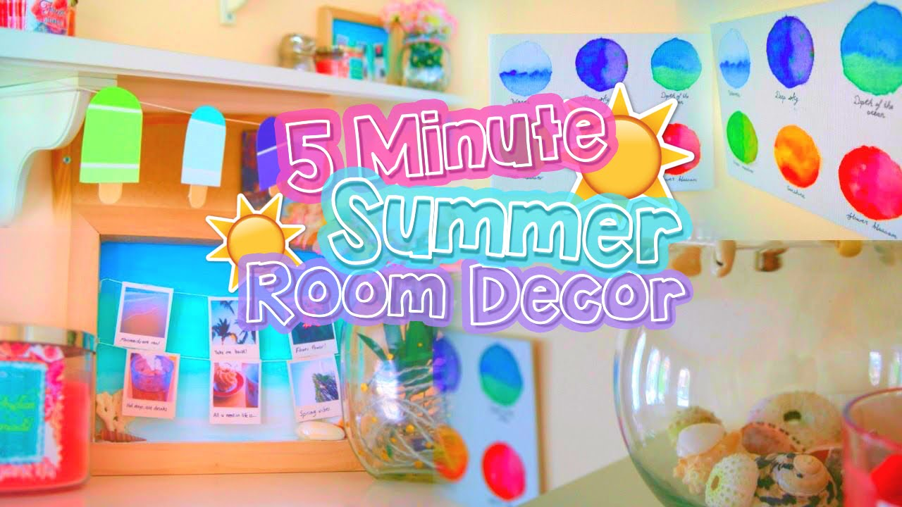 Diy 5 Minute Room Decor Cute Summer Projects That You Must Try