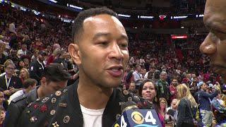 WEB EXTRA: John Legend on Dwyane Wade's Final Home Game