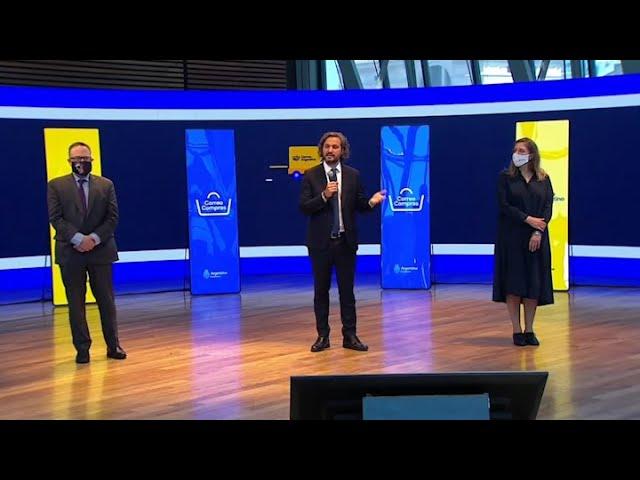 """Al presentar Correo Compras, Cafiero instó a los empresarios a """"sacar entre todos el país adelante"""""""