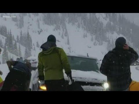 Family describes avalanche that shoved car across Colorado highway