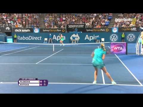 Kvitova vs Pliskova Final Sydney 2015 Highlights