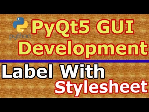 PyQt5 Create Label & Stylesheets With QLabel (Python GUI