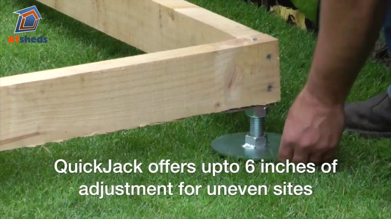 Quickjack shed base how to create a fast shed foundation youtube youtube premium solutioingenieria Choice Image