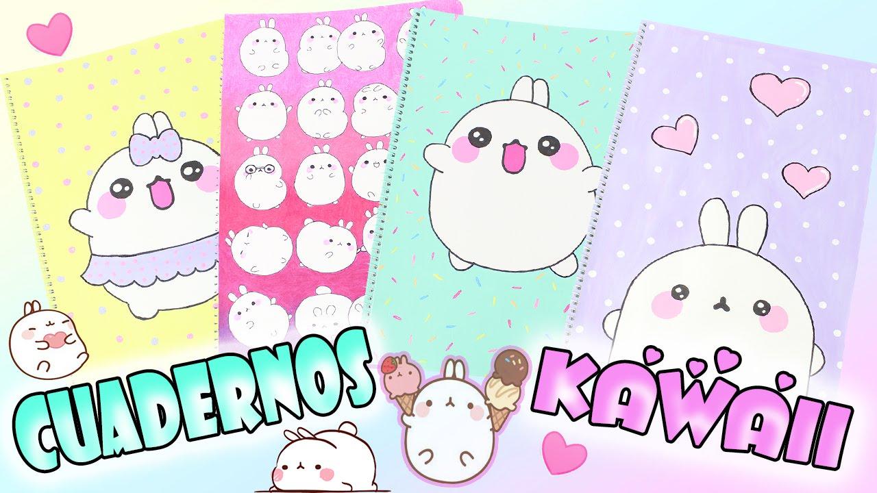 Portadas Para Cuadernos Decora Tus Libretas Con Dibujos: DIY- DECORAR CUADERNOS KAWAII DE MOLANG !!REGRESO A CLASES