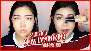 Shiseido Synchro Skin Glow Luminizing Foundation First Impression Review & Test   theChency