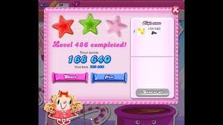 Candy Crush Saga Level 486 ★★ NO BOOSTER