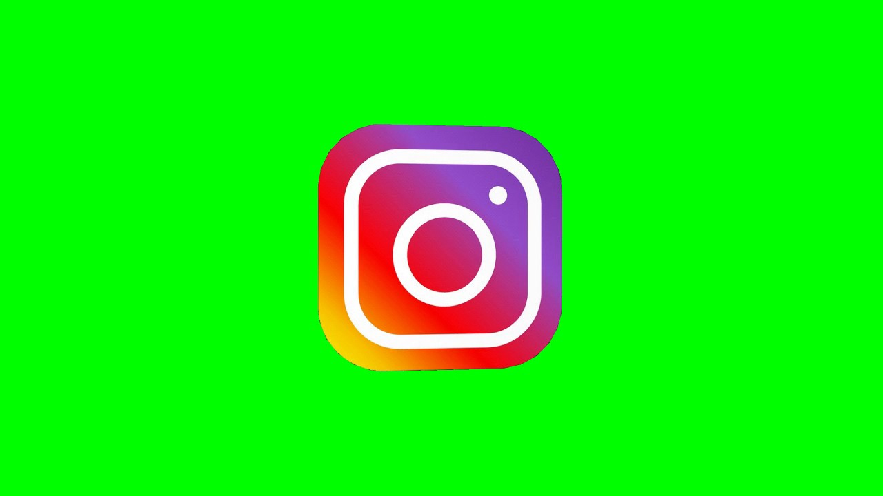 Instagram Logo 3d Green Screen Animated Hd Download Youtube