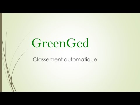 Green GED : Classement de documents Automatique