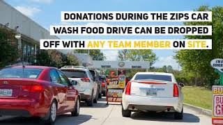Zips Car Wash Extends Gran Opening | Zips Food Drive | #1 Car Wash