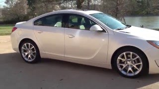 HD VIDEO 2012 BUICK REGAL GS PEARL WHITE 6 SPEED MANUAL USED WWW SUNSETMOTORS COM