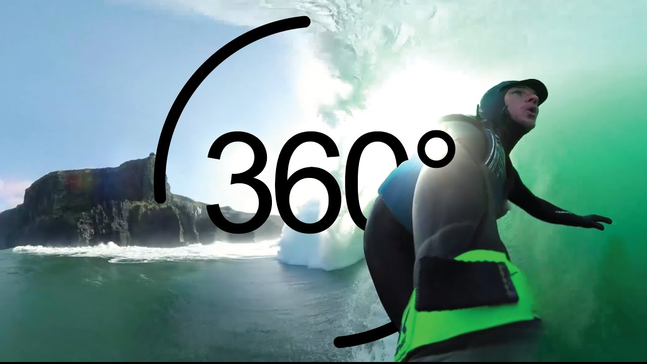 Wild Atlantic Way in 360: Surfing Below the Cliffs of Moher