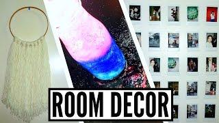 diy tumblr room decor urban outfitters   galaxy jar polaroid wall yarn hanging