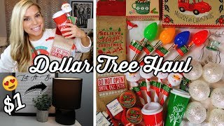 DOLLAR TREE HAUL | NEW CHRISTMAS ITEMS + MINI LAMP | CHIC ON THE CHEAP