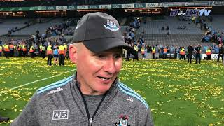 Jim Gavin speaks to Dubs TV after the 2019 All-Ireland Final win