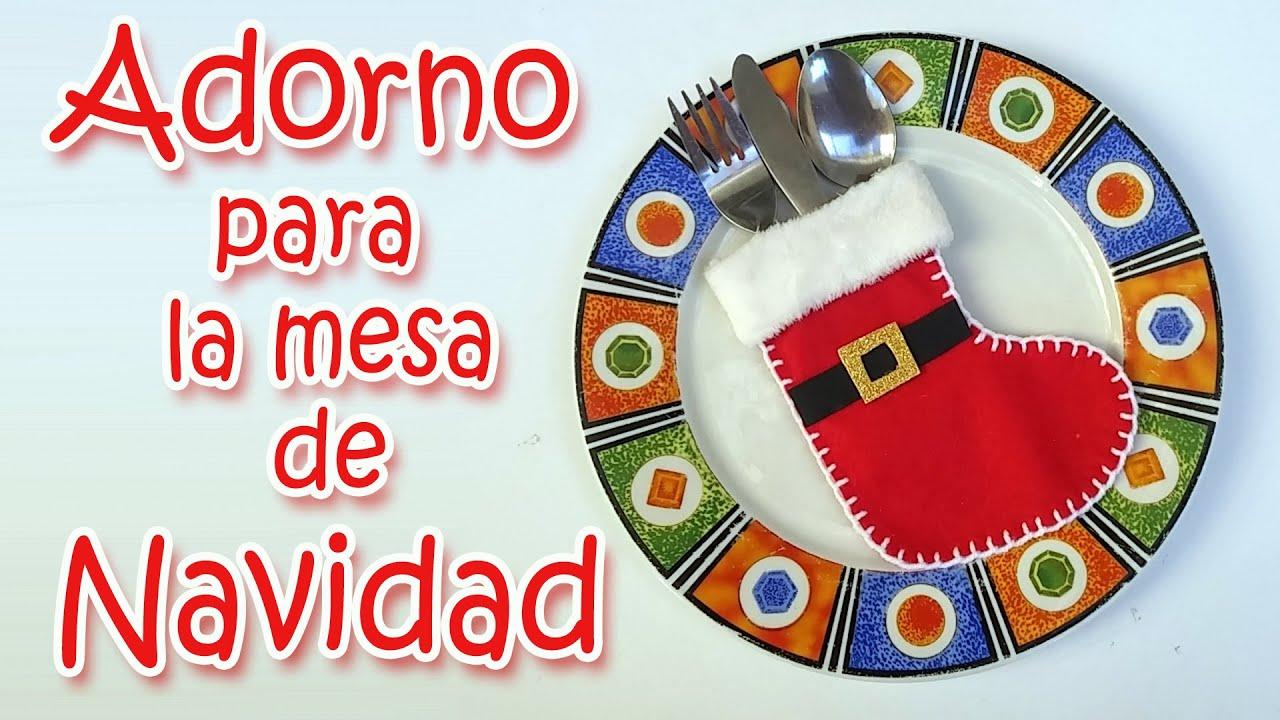 Manualidades navide as adorno para la mesa de navidad - Mesa navidena ...