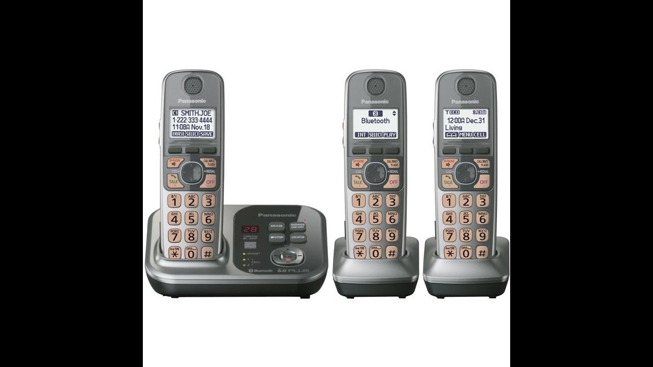 panasonic kx tg7733s dect 6 0 link to cell youtube rh youtube com Panasonic Cordless Phone Answering Machine AT&T Cordless Phones Answering Machine Manuals