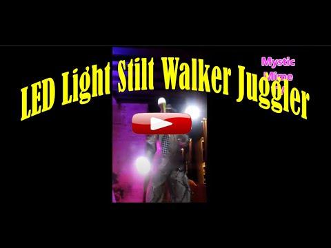 Mystic Mime LED Light Stilt Walker Juggling for Boracay / and Manila Philippines