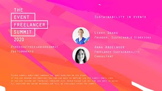 Sustainability in events   The Event Freelancer Summit 2020
