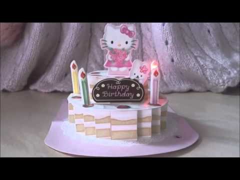 Sanrio hello kitty friends 3d pop up birthday cake greeting card sanrio hello kitty friends 3d pop up birthday cake greeting card m4hsunfo