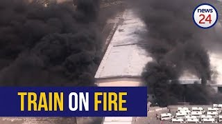 WATCH: Thick smoke above Cape Town station from fresh train fire